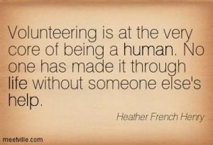 Volunteering....