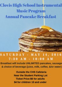Clovis High School Instrumental Music ProgramAnnual Pancake Breakfast (3)